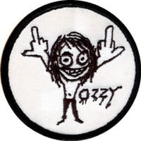 Ozzy Osbourne Men's Embroidered Patch White