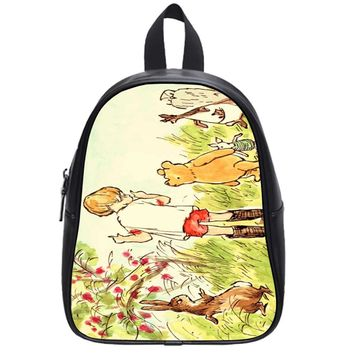 Winnie The Pooh Illustration School Backpack Small