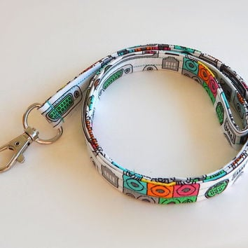 Tech Lanyard / Computer Keychain / Cute Lanyards / Key Lanyard / ID Badge Holder / Fabric Lanyard / Computer Ports / PC Tech / USB