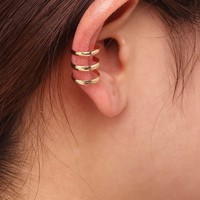 Gold Hollow Out Ear Cuff