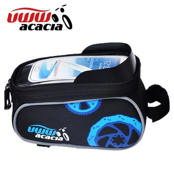 Red Blue Green Front Frame Bag Bicycle Front Basket 5.5 Inch 4.8 Inch Mobile Cell Phones Saddle Bag Sport Bike Cycling Bag12495
