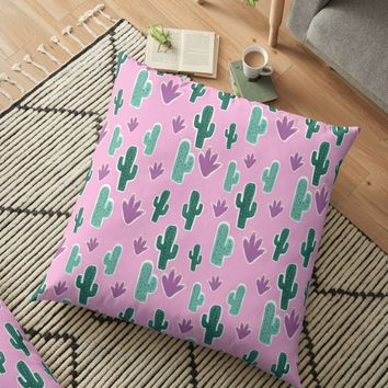 'Candy Desert #redbubble #cacti' Floor Pillow by designdn