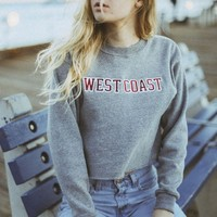 NANCY WEST COAST PATCH SWEATSHIRT