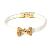 Golden White Bow Wrap