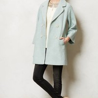 Clovelly Trapeze Coat by Elevenses Sky M Apparel