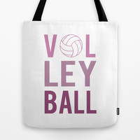 Volleyball (purple) Tote Bag by raineon