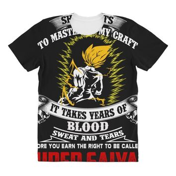 To Be Called A Super Saiyan All Over Women's T-shirt
