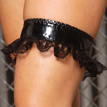 Vinyl and Lace Garter