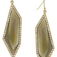 Women's Louise et Cie 'Octagon Stones' Drop Earrings - Gold/ Horn/ Crystal