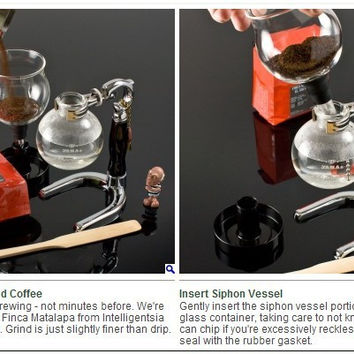 Free Shipping Electrical  Coffee Maker Siphon 3cups counted  syphon coffee maker