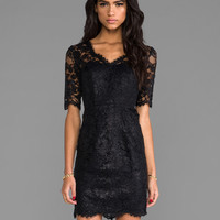 Shoshanna Lace Daria Dress in Black