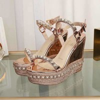 Christian Louboutin CL Pyraclou 11cm Wedges Style #31 - Best Online Sale