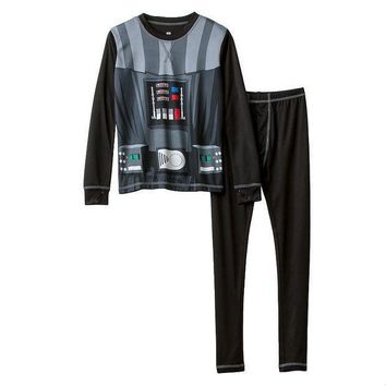 Climatesmart Star Wars Darth Vader Costume 2 Piece Baselayer Set   Boys 4 18 (black)