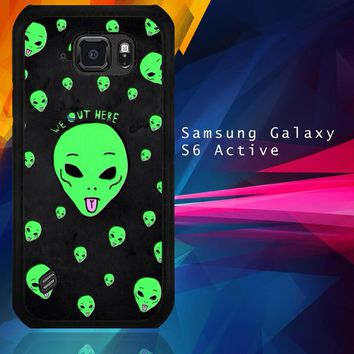 Alien We Out Here X4148 Samsung Galaxy S6 Active  Case