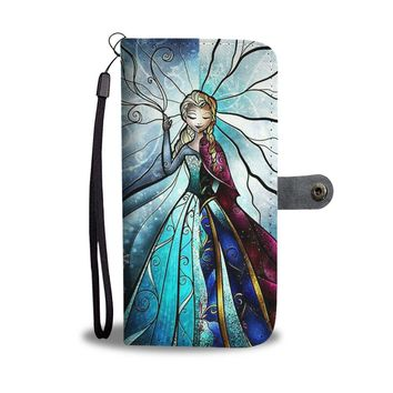 Disney Princess Elsa And Anna Frozen Wallet Phone Case