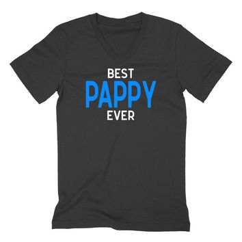 Best pappy ever, grandparents gift, Father's day gifts, grandpa V Neck T Shirt