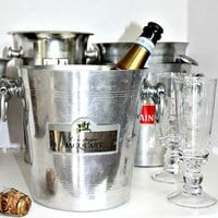 Vintage French Champagne Jacquart Reims Bucket