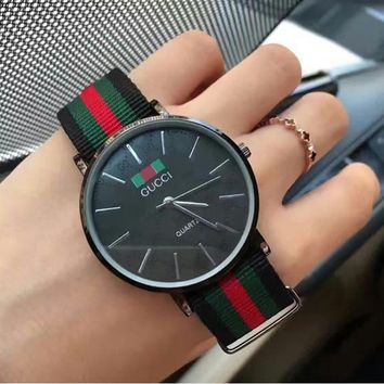 GUCCI Couples Watch Nylon Classic Wild Watch F-YY-ZT Black dial