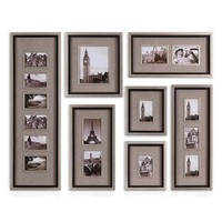 Uttermost 'Massena' Photo Frame Collage Collection - Grey (Set of 7)