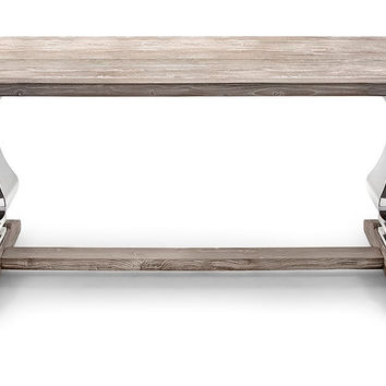 Shabby Chic Decor - Reclaimed / Distressed Wood & Metal Dining RoomTable | Free Shipping