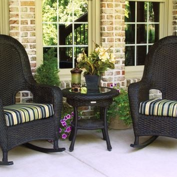 3pc Resin Wicker Rocking Chair Set by Tortuga Outdoors