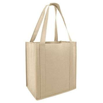 Heavy Duty and Strong Large Natural Canvas Tote Bags with Bottom Gusset for Crafts, Shopping, Groceries, Books, Welcome Bag, Diaper Bag, Beach, and Much More! -1 Pack- (15x14x4)