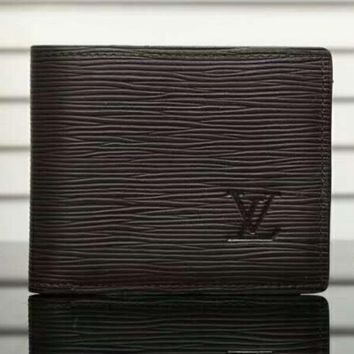 LV can folding Man Leather Purse Wallet H-LLBPFSH