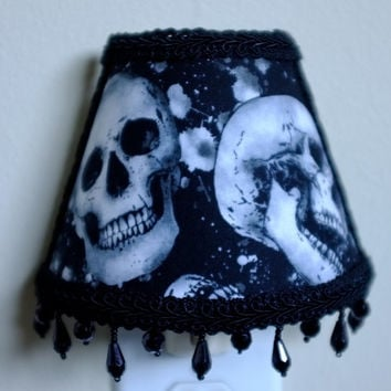 Skull Toss, skulls,  baby shower, baby, black,gray,goth,Halloween, ligting, home decor, graveyard, nightlight