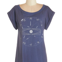 ModCloth Cosmic Mid-length Short Sleeves The Stars Align Tee