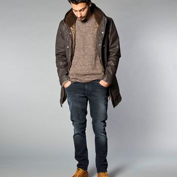 Frej Mountain Parka Waxed Cotton Brown - Nudie Jeans Co Online Shop