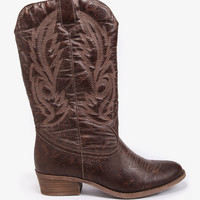 Distressed Cowboy Boots