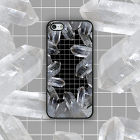 Crystals x Grid - iPhone Case Cover 4/4s/5/5s/5c/6