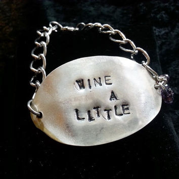 Wine lover spoon silverware bracelet