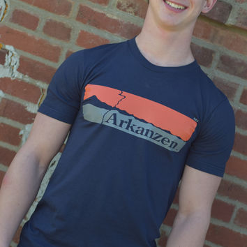 Arkanzen T-Shirt {Navy/Orange}