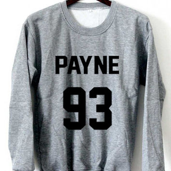 One Direction Sweatshirt Liam Payne Sweaters Payne 93 Logo Black, White, Gray, Maroon Unisex Sweaters Tee S,M,L,XL #1