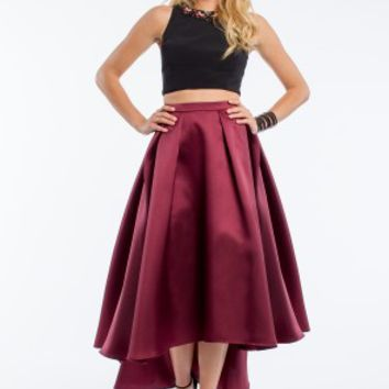 Two-Piece Hi-Low Ball Skirt