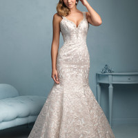 Allure Bridals 9203 Low Back Wedding Dress