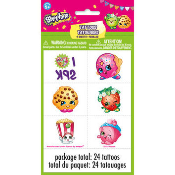 Shopkins Temporary Tattoo Sheets [4 per Pack]