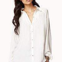 Pleated A-Line Shirt | FOREVER 21 - 2025102235