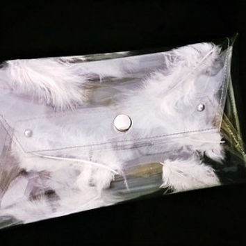 Wedding bag clear white bride feathers Bridal Wedding Bags And Purses Bridesmaid Clutches Bridal wedding envelope clutch wedding bridesmaid