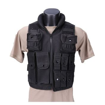 High Quality Black Military Vest, Hunting Vest  Outdoor Products Equipment