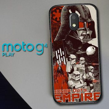 Star Wars Darth Vader Empire E1234 Motorola Moto G4 Play Case