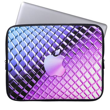 Style Metal with golden apple logo Laptop Sleeve