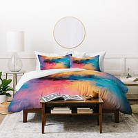 Caleb Troy Golden Virus Duvet Cover