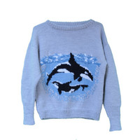 Amazing Orca Whale Sweater Kawaii Animal Print -Killer Whale- Free Willy Sweater