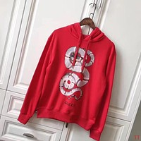 GUCCI Women Man Fashion Snake Print Long Sleeve Top Sweater Pullover Hoodie