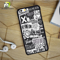 The Xx Coldplay Arctic Monkeys The Neighbourhood Sleeping With Sirens The 1975 Band iPhone 6 Case by Avallen