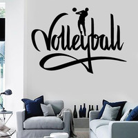Wall Stickers Vinyl Decal Volleyball I Love Volleyball z1144