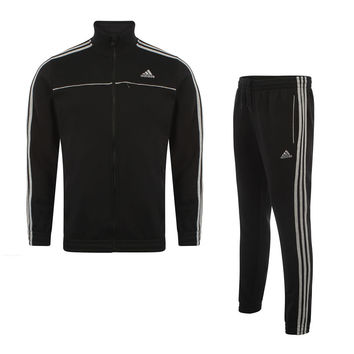 adidas Essentials Fleece Tracksuit - Black