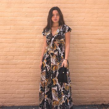 Knotted Maxi Dress Mustard